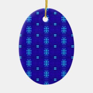 Nobler schicker moderner Königsblau-Entwurf Keramik Ornament