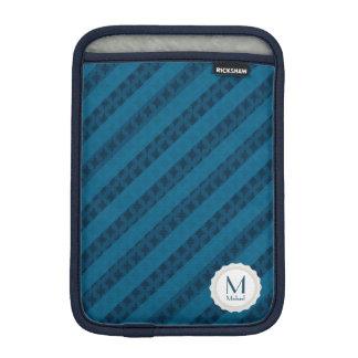 Nobles blaue Streifen-personalisiertes Monogramm