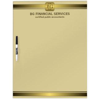 Nobles Creme-und Goldplatte Trocken-Löschen Whiteboards