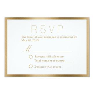 Nobles Goldgerahmte Hochzeits-Wartekarten 8,9 X 12,7 Cm Einladungskarte