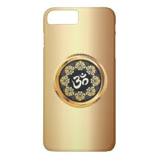 Nobles Goldom-Symbol-Yoga iPhone 8 Plus/7 Plus Hülle