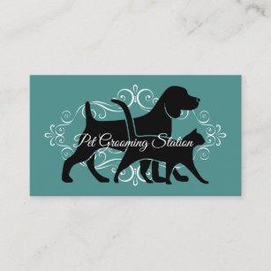 Nobles Haustier-Pflegen Visitenkarte