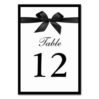 Nobles schwarzes Band-doppelseitige Tischnummern