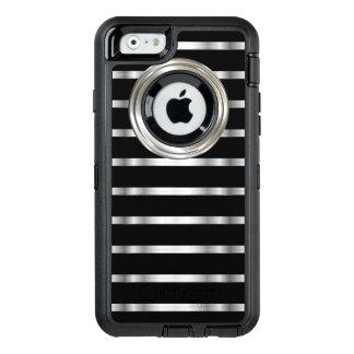 Nobles Silber und Schwarzes OtterBox iPhone 6/6s Hülle