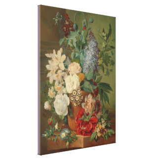 Noch Leben mit Blumen in einem Terrakotta-Vase Leinwanddruck