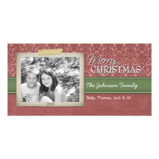 Noël - avec la frontière vintage de photo - photocarte customisée