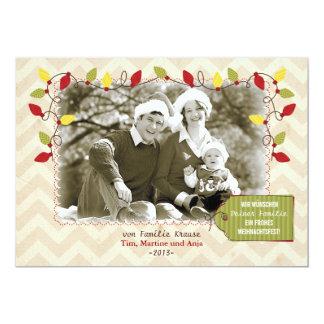 Noël carte de photo carte de salutation carton d'invitation  12,7 cm x 17,78 cm