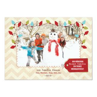 Noël carte de photo carton d'invitation  12,7 cm x 17,78 cm