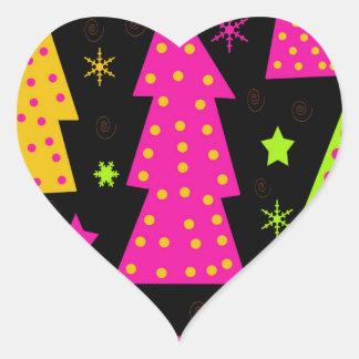 Noël coloré et espiègle sticker cœur