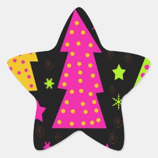 Noël coloré et espiègle sticker étoile