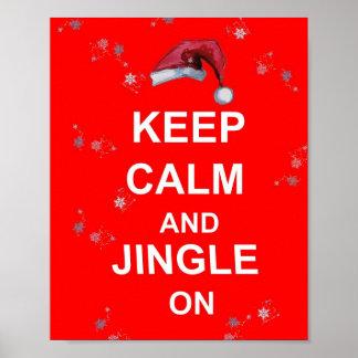 Noël d amusement gardent le calme et le tintement