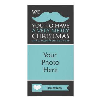 Noël de moustache modèle pour photocarte