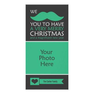 Noël de moustache photocartes personnalisées