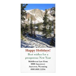 Noël d'entreprise de Marie Wyoming de lac Carte Avec Photo