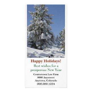Noël d'entreprise de neige du Colorado Carte Avec Photo