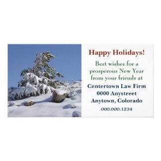 Noël d'entreprise de pin d'hiver du Colorado Carte Avec Photo
