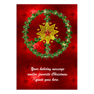 Noël d'étoile de paix carte de visite grand format
