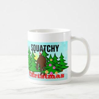 Noël drôle Bigfoot de Squatchy de mauvais goût Mug Blanc