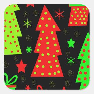 Noël espiègle sticker carré