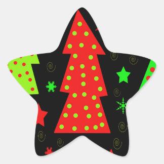 Noël espiègle sticker étoile