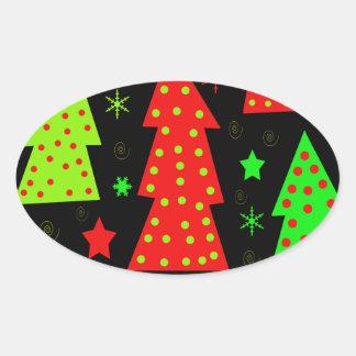 Noël espiègle sticker ovale