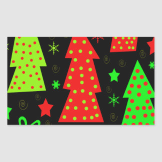 Noël espiègle sticker rectangulaire