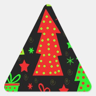 Noël espiègle sticker triangulaire