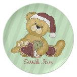 Noël fait sur commande d'ours de nounours assiettes