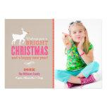 Noël lumineux souhaite le sable du carte photo | faire-part personnalisables