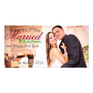 Noël marié cartes de vœux avec photo