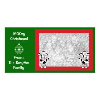 Noël MOOry ! Carte de photo Photocarte Customisée