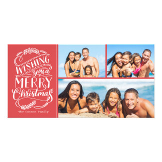 Noël souhaite la photo de la collection 3 carte avec photo