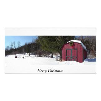 Noël, vacances, saison, salutations photocarte