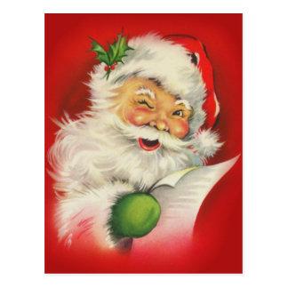 Noël vintage le père noël cartes postales