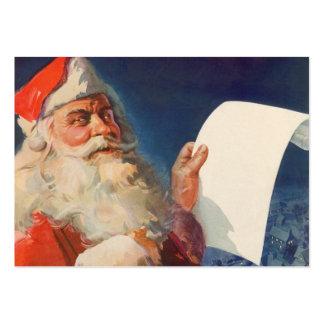 Noël vintage, liste vilaine du père noël Nice Carte De Visite Grand Format