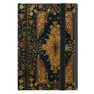 Noir de Falln et livre floral d'or Étuis iPad Mini