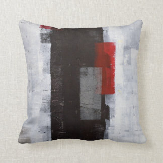 """Noir """"de voyage de puissance"""", gris, coussin rouge"""