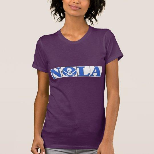 NOLA-Pirat, blaue Fliesen T-Shirt