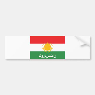 nom arabe des textes de pays de drapeau du Kurdist Autocollants Pour Voiture