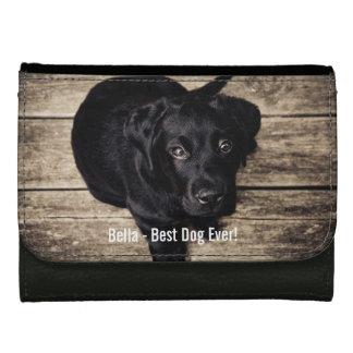 Nom noir personnalisé de photo de chien de