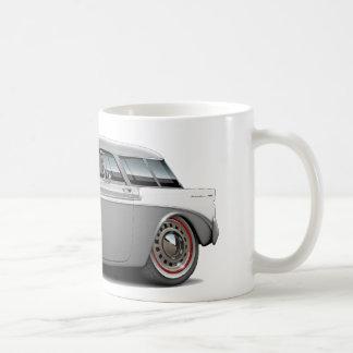 Nomade-Grau-Weißes Auto 1956 Kaffeetasse