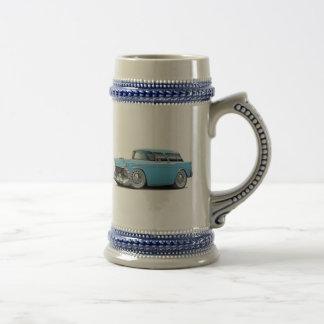 Nomade-lt 1956 Blue Car Bierglas