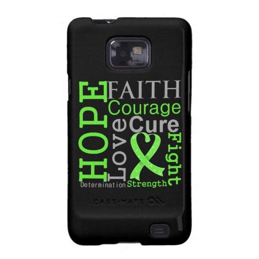 Non-Hodgkin-Lymphom-Hoffnungs-Glauben-Motto Samsung Galaxy S2 Case