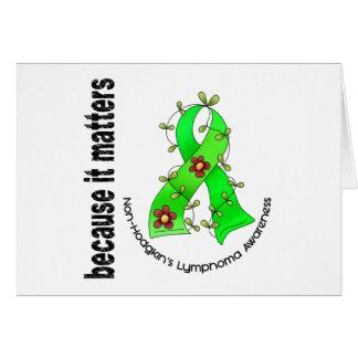 Non-Hodgkins Lymphom-Blumen-Band 3 Grußkarte