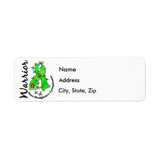 Non-Hodgkins Lymphom-Krieger 15 Rückversand-Adressaufkleber