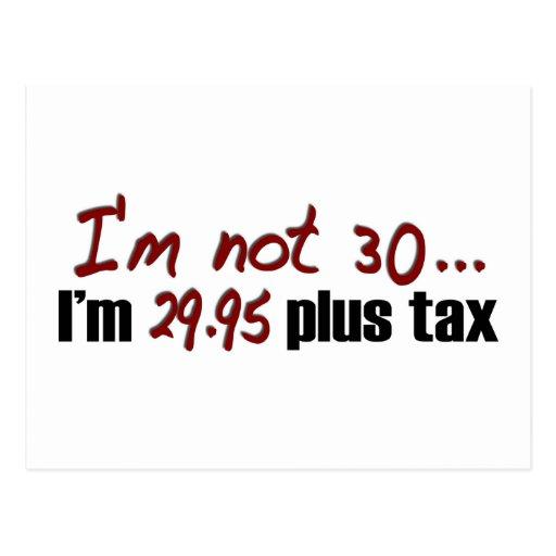 Non impôt 30 $29,95 plus cartes postales