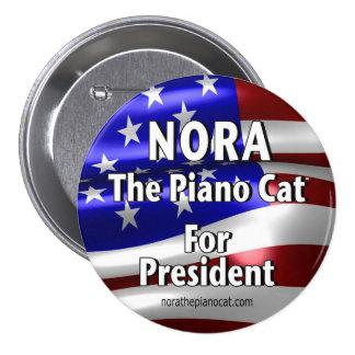 Nora für Präsidenten Button #2