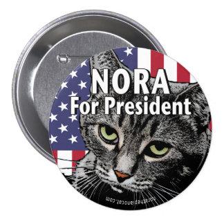 Nora für Präsidenten Button #7