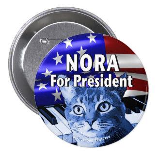 Nora für Präsidenten Button In Blue #3