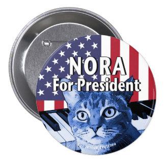 Nora für Präsidenten Button In Blue #4